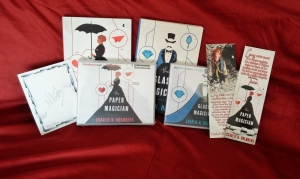 Signed paperback copies of The Paper Magician and The Glass Magician, signed audiobook copies of The Paper Magician and The Glass Magician, signed bookplate, and bookmark.